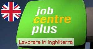 Job Centre a Londra e in tutta l'Inghilterra