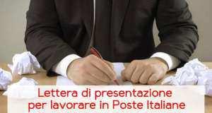 Lettera di presentazione per lavorare in Poste Italiane