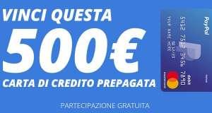 Vinci una carta di credito prepagata da 500 euro